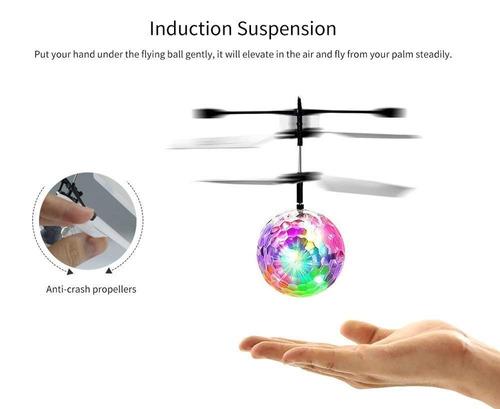 juguete bola voladora helicóptero flying ball recargable usb