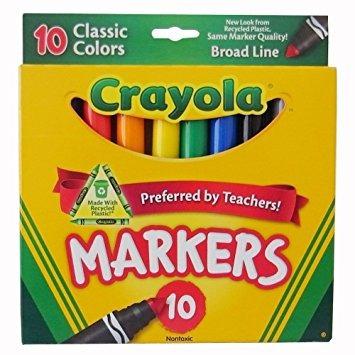 Juguete Colores Crayola Classic Amplia Línea 10 Marcadores - $ 1.284 ...