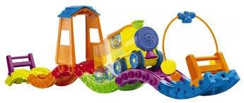 juguete juego tren musical con casita mult actividades  tomy