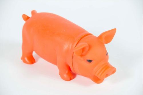 juguete para perro chancho/elefante de colores con chifle