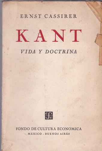 kant. vida y doctrina.  cassirer.