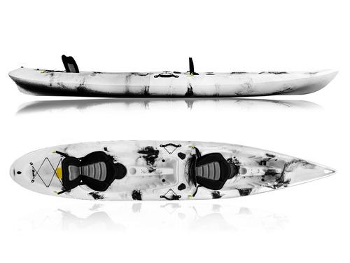 kayak rígido baikal 2 personas con remos y asientos