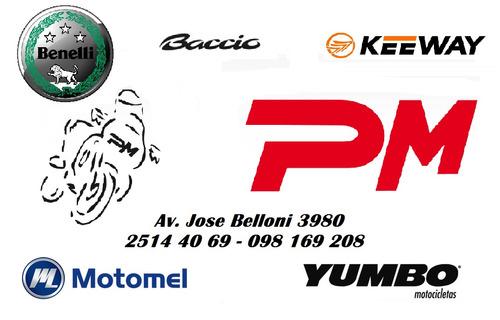 keeway cs110 pollerita target joy px city 125 con casco!!