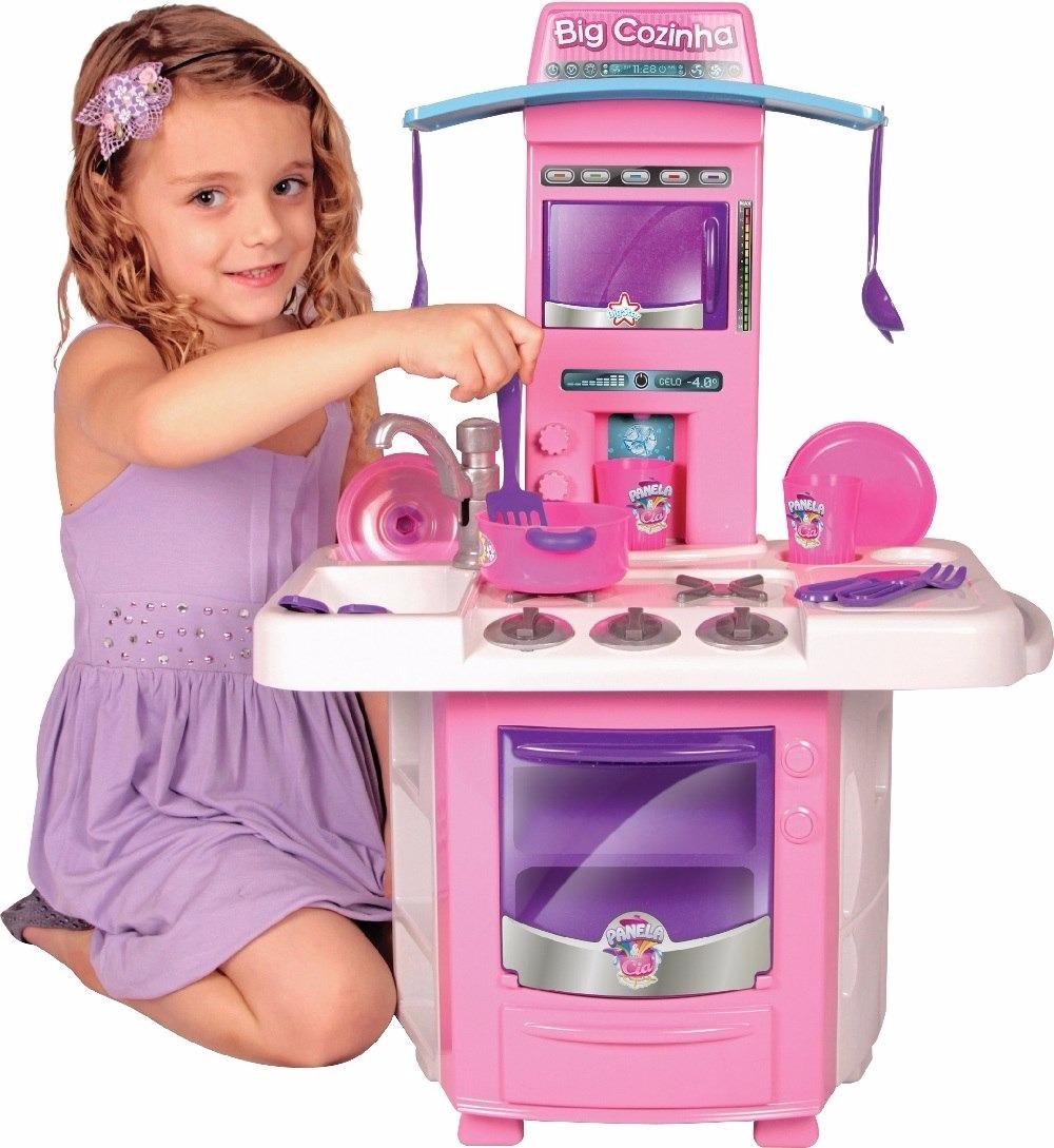 Kit 02 Cozinha Big Star Completa Rosa Chef C Acess Rios R 159 00