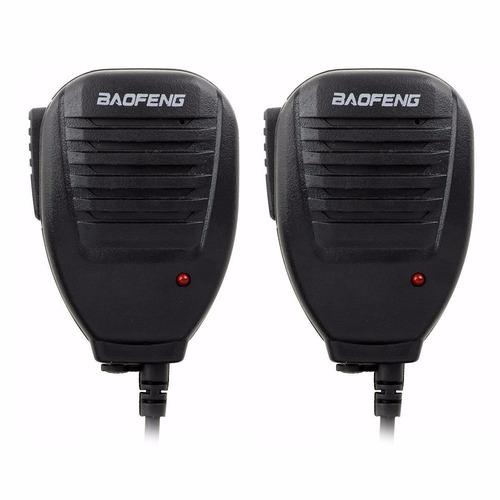 kit 02 peças mini microfone ptt baofeng original