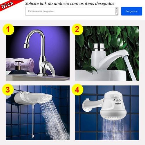 kit acessórios banheiro 5 peças cromadas fortti lorenzetti