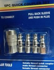 kit acople rápido y conectores p/compresor arusa