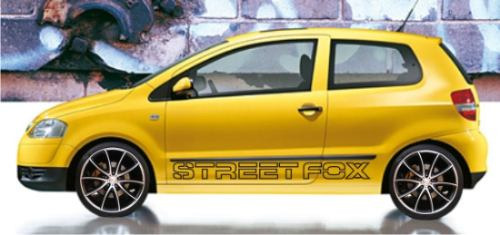 kit adesivo fox streetfox - modelo único e exclusivo no ml.