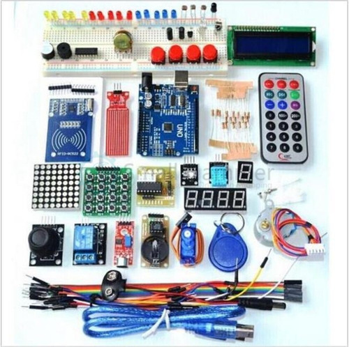 kit arduino uno r3 starter pack completo caja plástica rfid