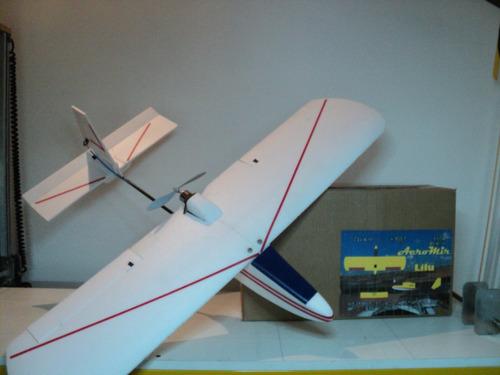 kit avion lilu listo para armar motor electrico