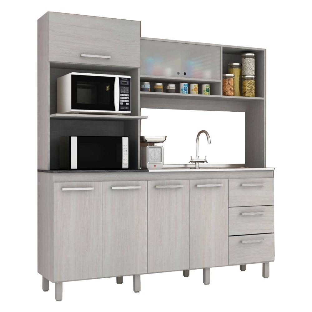 Kit Cocina Mueble Alacena Estantes Placard Mesada - $ 5.390,00 en ...