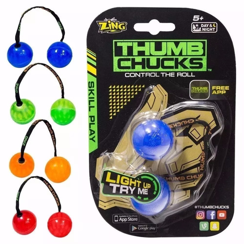kit com 5 thumb chucks de led febre do momento atacado.