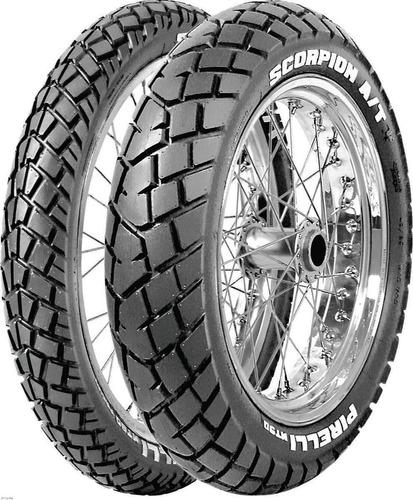kit cubiertas pirelli 110 90 17 +  90 90 19 mt 90 fas motos