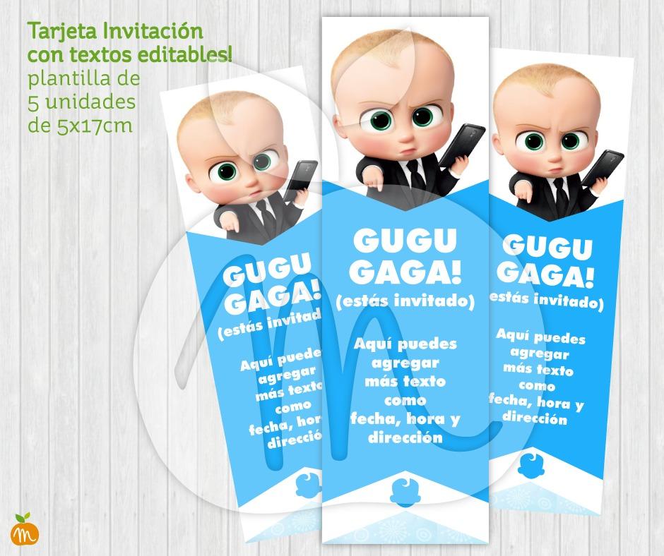 Kit Cumpleaños Baby Showers Un Jefe En Pañales Baby Boss