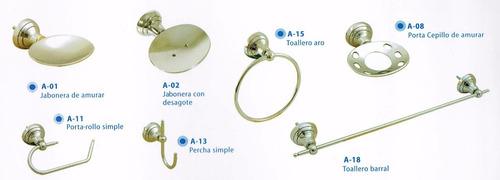 kit de accesorios para baño de bronce cromado.