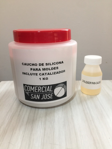 kit de caucho de silicona dureza 17 para moldes x 1kg colada