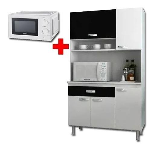 Kit De Cocina + Microondas - Mueble Alacena - Modular - Lcm