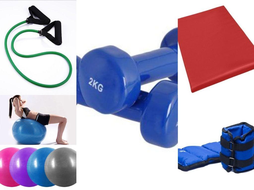 kit de entrenamiento yoga pilates pesas 5 artículos. Cargando zoom. 929c5a7e8f25