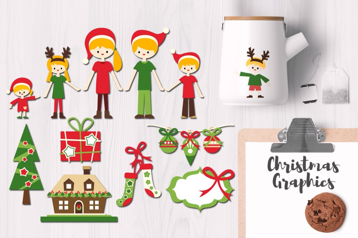 Kit De Imágenes Navidad Familia Xmas Family - $ 99,00 en Mercado Libre