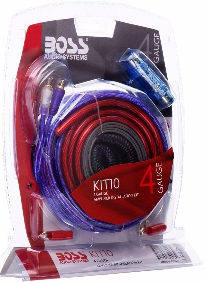 Kit De Instalacion Boss Audio 4 Gauge Auto Radio Profesional U S