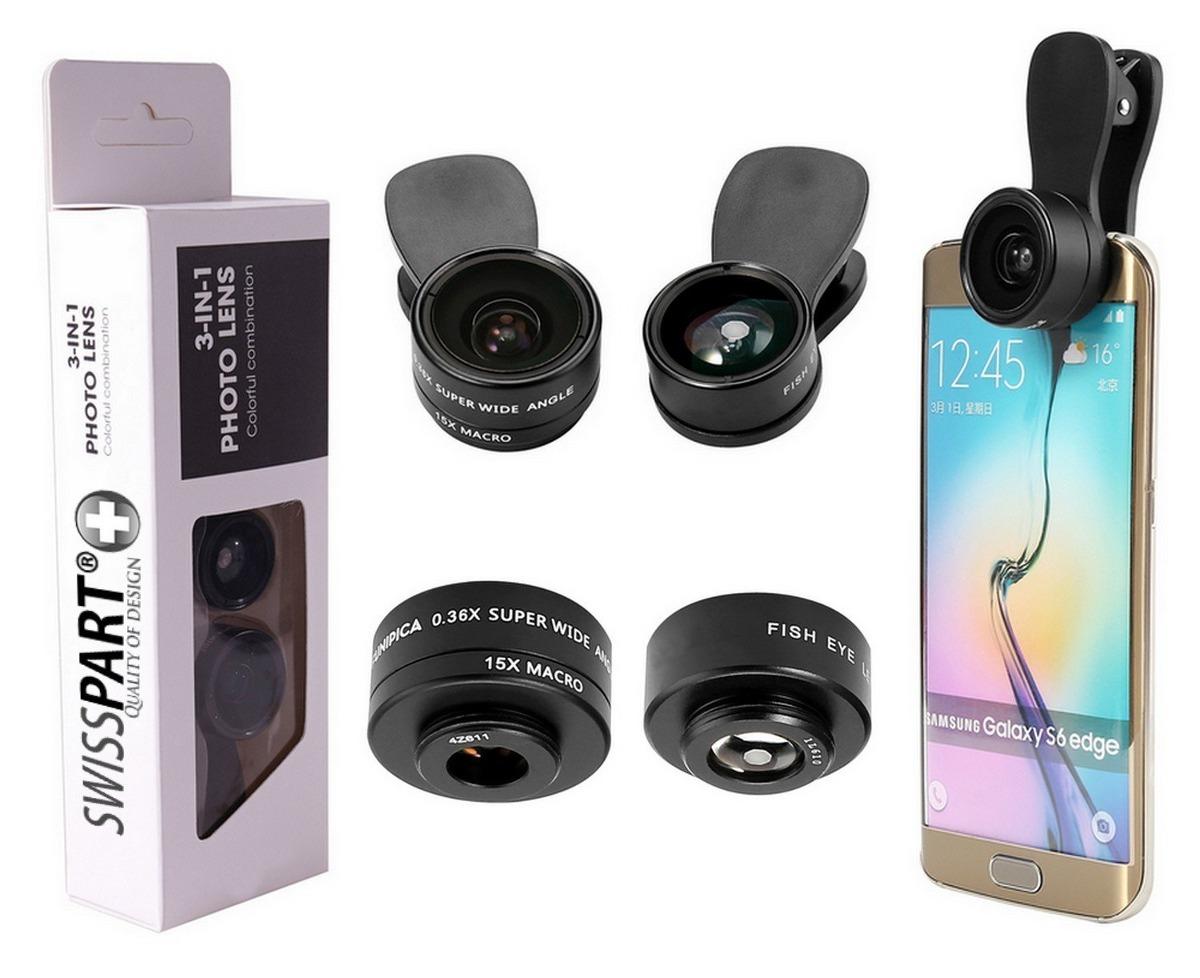 2f657656a44 kit de lente de cámara para teléfono celular 3 en 1 + dos. Cargando zoom.