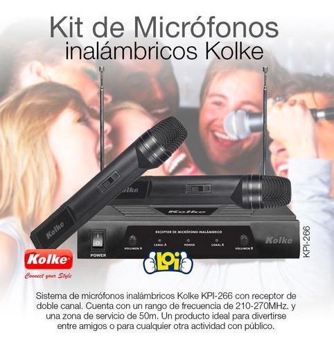 kit de micrófonos inalámbricos kolke alcance 50m oferta loi