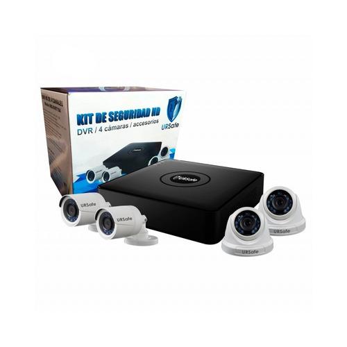 kit de seguridad ursafe dvr hd 4 camaras by hikvision #promo