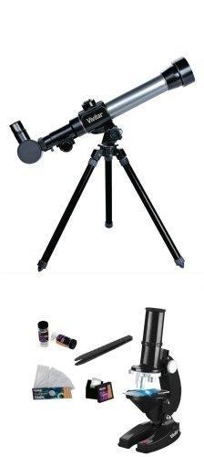 kit de telescopio y microscopio vivitar 20x 30x 40x
