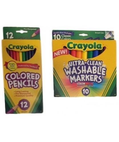 kit de útiles escolares - crayola crayons (24), crayola c