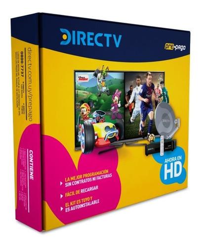 kit directv prepago hd decodificador + antena + control