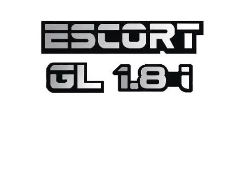 kit emblemas escort + 1.8i + gl linha ford 1994