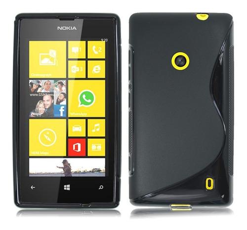 kit estuche tpu y protector de pantalla para nokia lumia 520