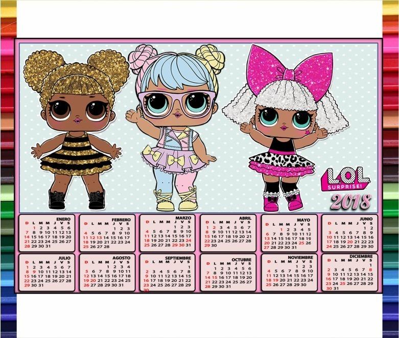 kit etiquetas escolares muñecas l o l imprimible 2018 lol 150 00