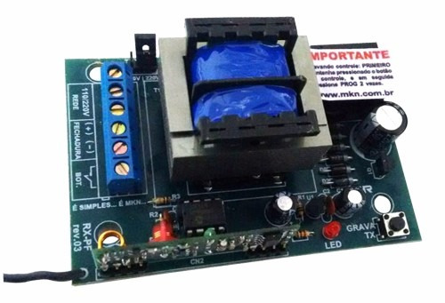 kit fechadura elétrica ipec 2 controles 1 receptor e fonte