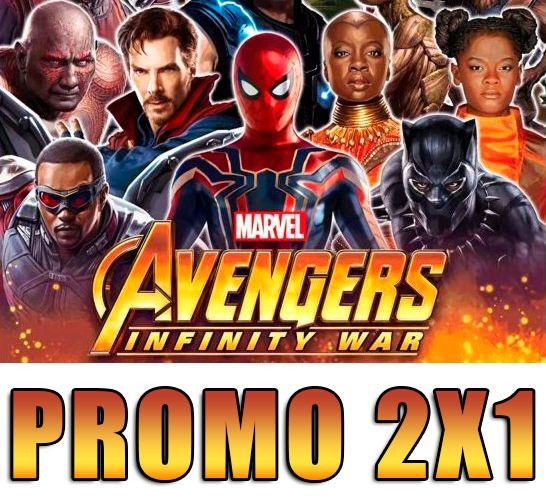 Kit Imprimible Avenger Infinity War 2018 Invitaciones 2x1 250 00