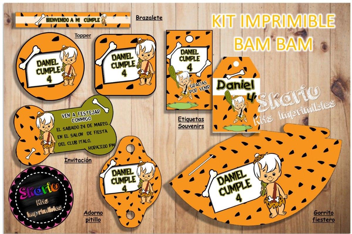 Kit Imprimible Bam Bam Candy Bar Envio Pdf