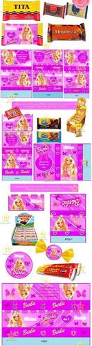 kit imprimible barbie personalizadas, cumples fiesta y mas
