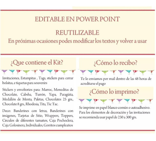 kit imprimible bautismo nena angelita con corazón candy 2