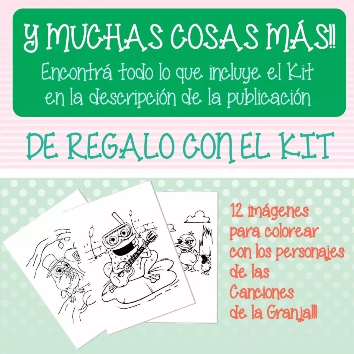 Kit Imprimible Canciones La Granja Zenon Editable Regalos