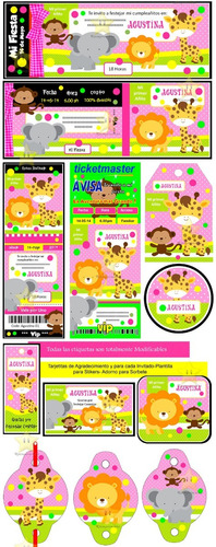kit imprimible candy bar animalitos nena golosinas cod02