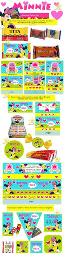 kit imprimible candy bar golosinas minnie mouse cod02