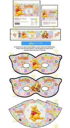 kit imprimible candy bar golosinas winnie pooh cumples cod02