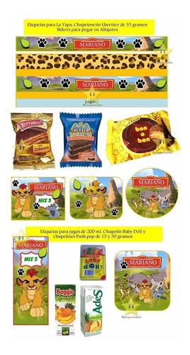kit imprimible candy bar la guardia del leon golosinas y mas
