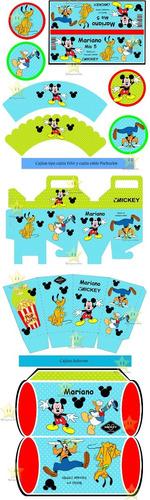 kit imprimible candy bar mickey y sus amigos cumples cod07