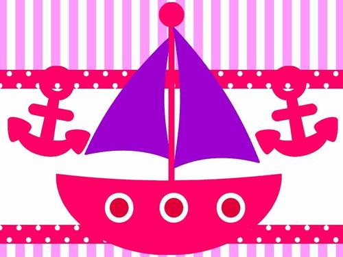 kit imprimible candy bar nautico marinero nena golosinas