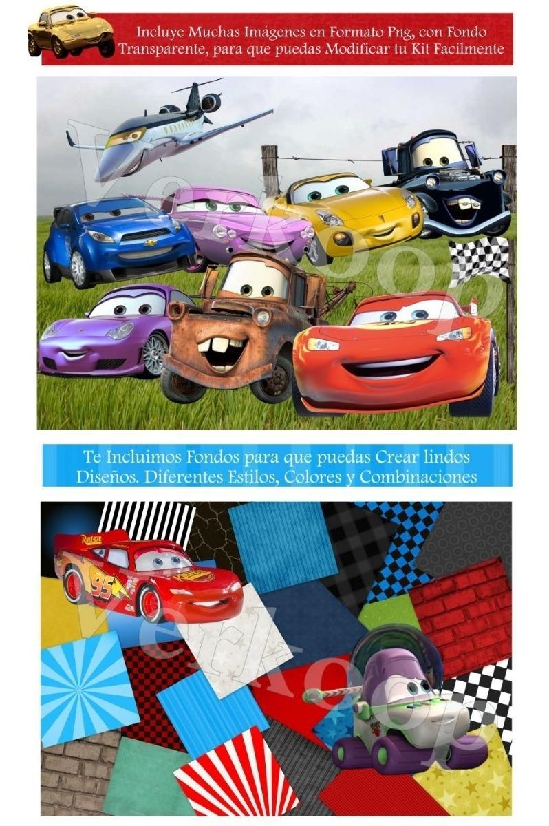 Kit Imprimible Cars Diseña Tarjetas Invitaciones Cumple