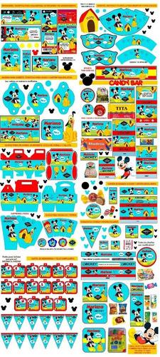kit imprimible casa de mickey mouse invitaciones cotillón +