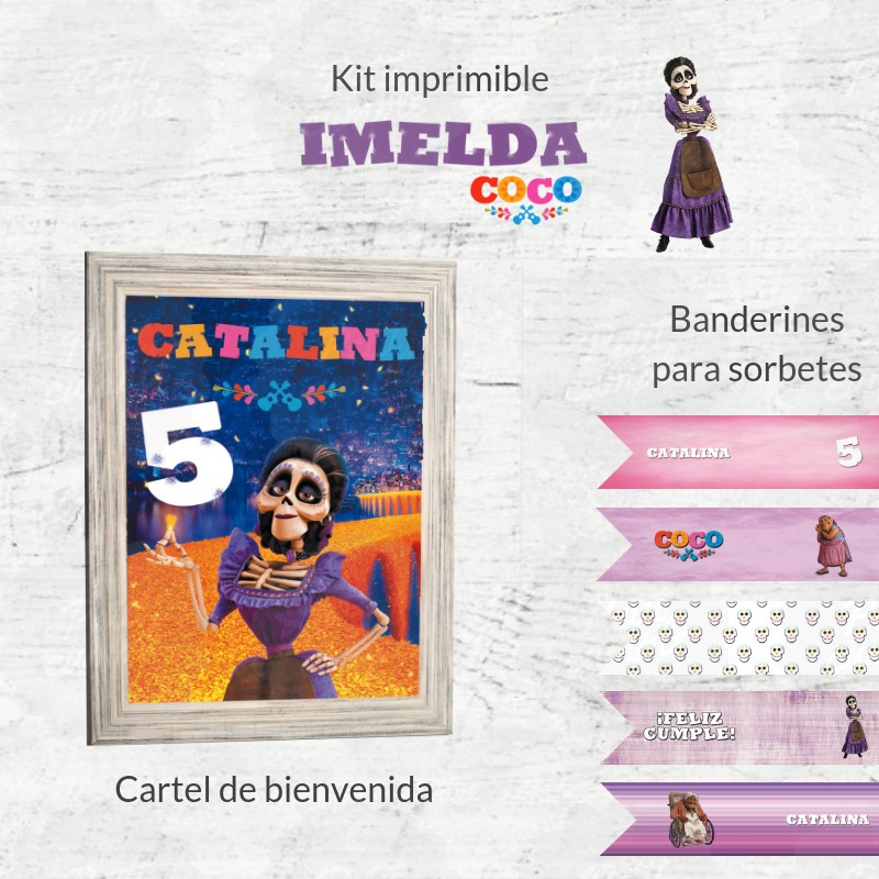 Kit Imprimible Coco Imelda Disney Pixar Candy Bar - $ 349,00 en ...