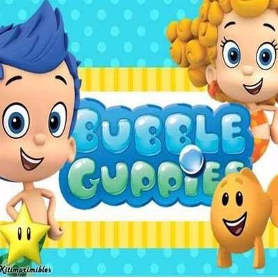 kit imprimible de bubble guppies diseñá tarjetas, cumples
