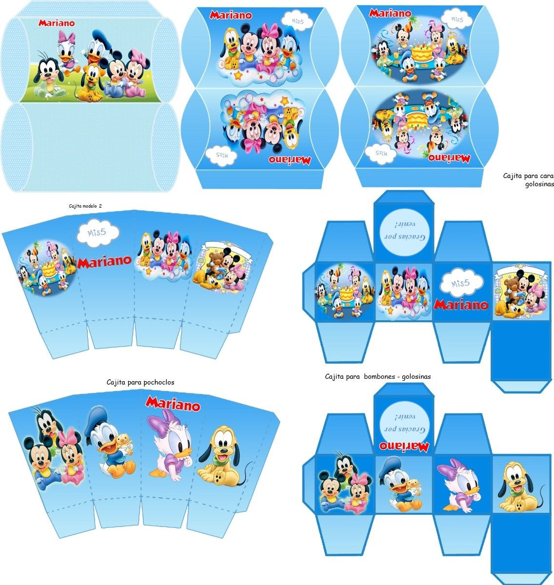 Kit Imprimible Disney Bebé Totalmente Personalizable - $ 150,00 en ...